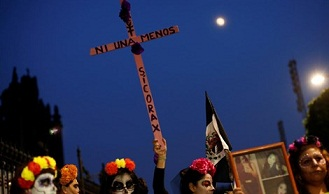 En 2016 mataron en México a 7,5 mujeres por día