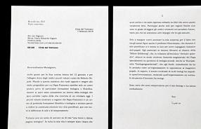 Vaticano divulga carta de Benedicto XVI sobre Papa Francisco
