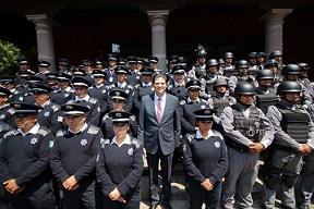 Se refuerza Policía de Morelia, con armamento de recursos FORTASEG
