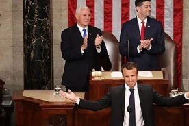"""Macron pide cooperación de EEUU para """"reinventar"""" el multilateralismo"""
